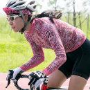 세컨윈드 긴팔져지 에스닉 여성 자전거의류 짚업져지