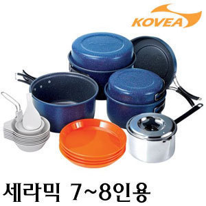 코베아 세라믹(ceramic) 7~8인용 코펠/무독성 세라믹 코팅/등산 낚시 캠핑 각종 야외활동 그릇 냄비