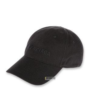발렌시아가  남성 로고 블랙 볼캡 590758 410B2 1060