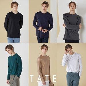 오플 TATE 21봄 오가닉코튼 라이크라 에센셜 티셔츠 남성 6종