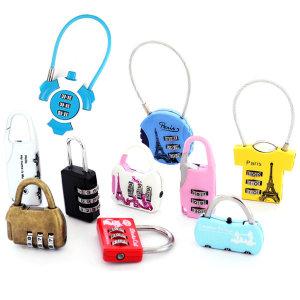 [케이필] 미니 자물쇠 1700 / 번호 키 하트 열쇠 캐리어 여행용