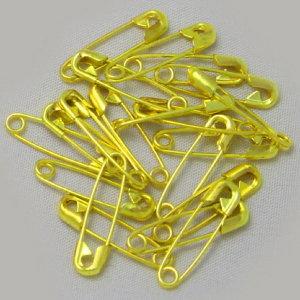 국산 옷핀 20mm 금색(황동) 500개 / 미래택핀