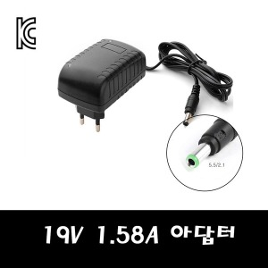 19V 1.5A 2A 어댑터 아답터 충전기 모니터 노트북 오