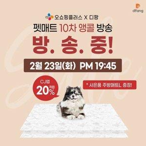 CJ앱 10%적립  1+1/강아지매트1위/소형견용 디팡 러그형 2장