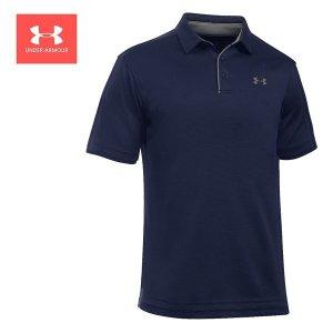 언더아머 UA 테크 폴로 반팔 티셔츠 네이비 1290140-410