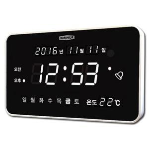 디지털벽시계 HB-102 무소음 벽걸이 알람 LED