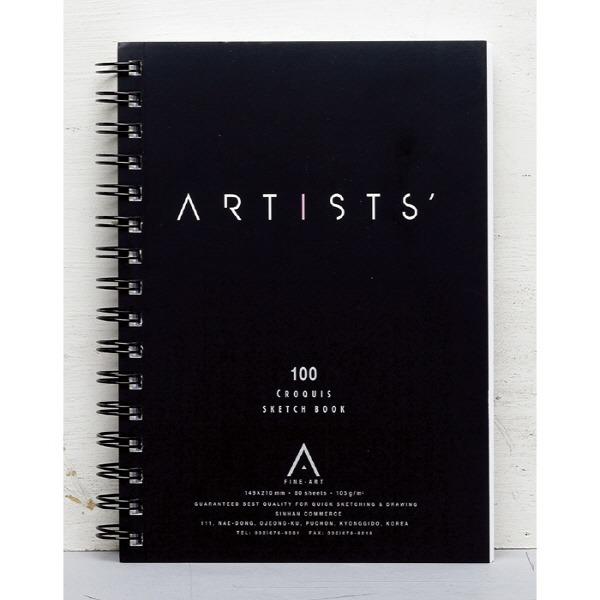 스케치패드A5(149 210 80매 ARTISTS)