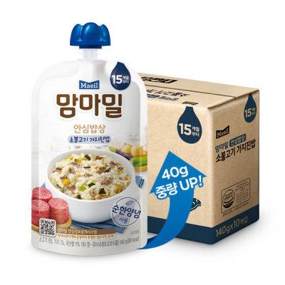 [맘마밀] 맘마밀 안심밥상 소불고기가지 140g 10팩