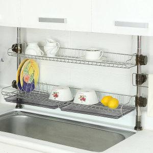 기둥식 씽크대선반 식기건조대/주방선반/주방수납용품