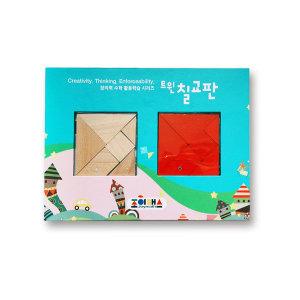 자석트윈칠교판 (2색 14조각) / 유아자석교구