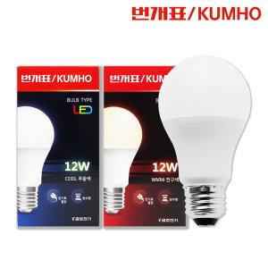 금호전기 LED벌브 백열등 삼파장 대체램프 8W 10W 12W