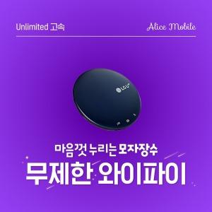 앨리스와이파이 월 무제한 포켓와이파이 국내 LTE 에그