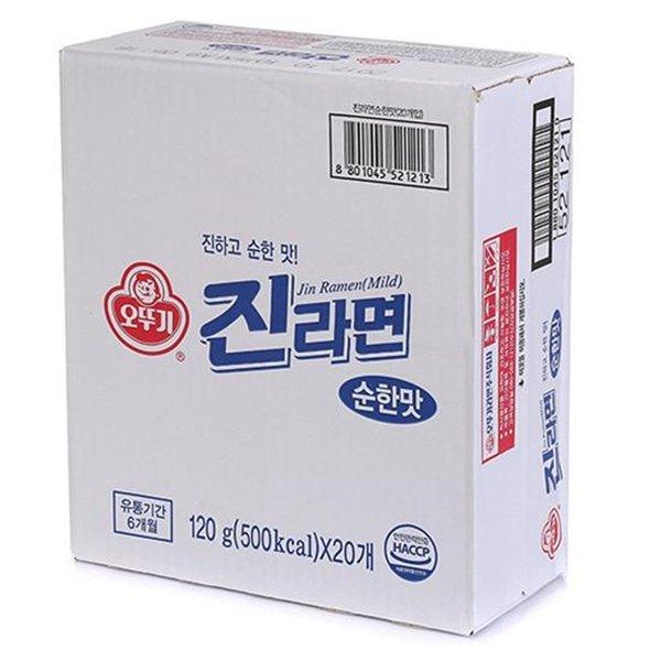 오뚜기 진라면 순한맛 120g 20개 1box