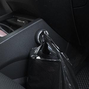 차량용 봉투걸이 휴지통/쓰레기통 블랙+레드 2p 세트