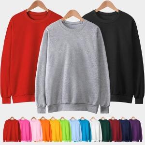 맨투맨 티셔츠/무지/빅사이즈/남자/여자/아동/단체티