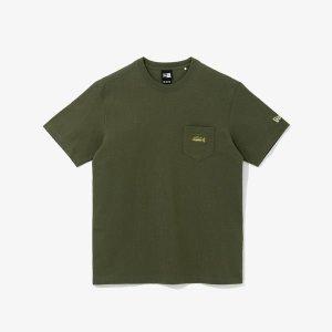 갤러리아   뉴에라  피싱 클럽 포켓 티셔츠 카키 (12715291)