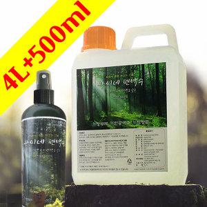 편백수 원액 스프레이 4L+500ml 피톤치드 천연 탈취제
