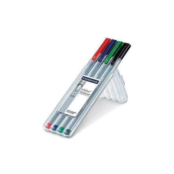 (현대Hmall)삼각 화인라이너펜(4색세트/흑 청 적 녹/0.3/334SB4/STAEDTLER)