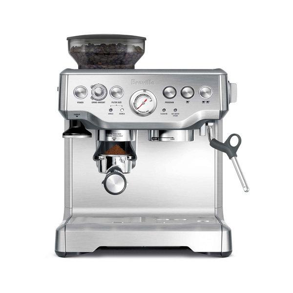 브레빌 커피머신 BES870 반자동 에스프레스 실버 컬러
