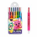 지구 핑크퐁 원더스타 미니 색연필 12색 미니사이즈