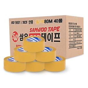 박스테이프 중포장 80m 황색(40입) OPP테이프