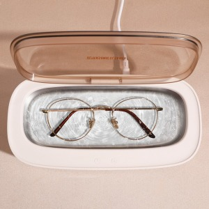 (아이보리)세척박사 초음파 세척기 안경 시계 미니