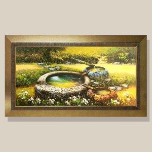 부귀의우물 물그림 그림액자 유화그림 풍수그림 20호