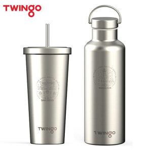 트윙고 2중 스텐레스 텀블러/콜드컵 물병 마이보틀