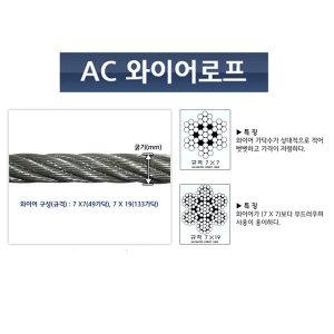 국산와이어로프1.6mm(7X7)X10M /AC와이어철와이어쇠줄