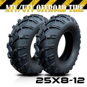ATV타이어 25x8-12 사륜오토바이 ATV 전용 (개당)