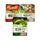 풀무원 육즙만두2봉+메밀지짐만두 2봉+청고추만두 2봉