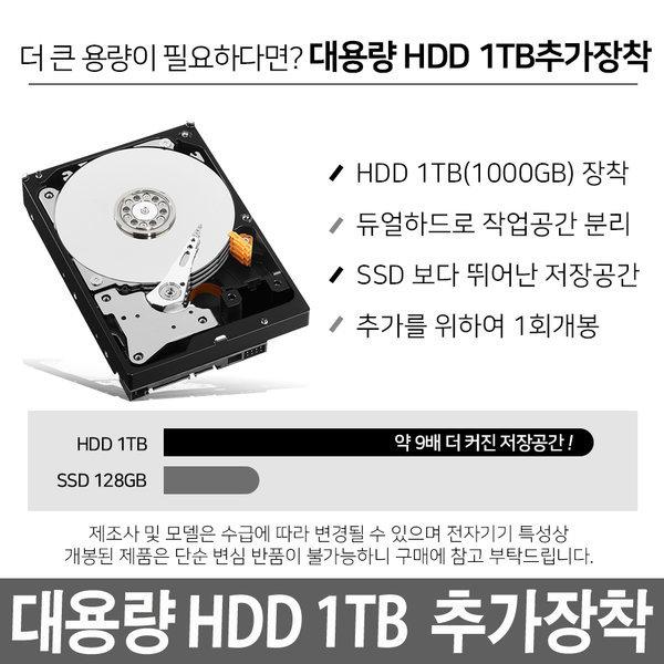 HDD 1TB하드 추가장착 D515DA 전용