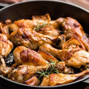 에어프라이어 치킨 떴닭 로스트 1kg + 1kg 100%국내산