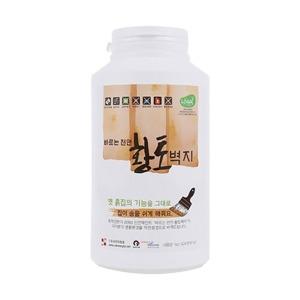 바르는 친환경 황토 벽지 페인트 수성 1kg 셀프시공