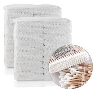 고급 천연솜 면봉 4000개 위생 나무 회오리 종이면봉
