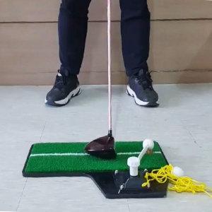 실내 골프 스윙연습 멀티 골프매트 3in1 논슬립패드