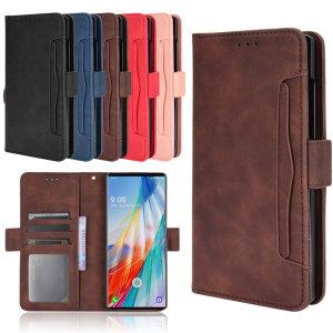 LG WING 5G 더블 카드지갑형 레더케이스 이중 카드수