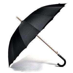 자동 장우산 70 블랙무지 곡자 튼튼한 16K 살대