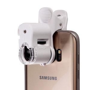 스마트폰 현미경(화이트) 확대경 60배율 휴대폰