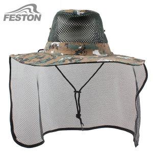 패스톤 망사 정글모자 넥커버형 자외선차단 낚시모자