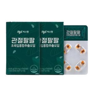 씨스팜 관절팔팔 초록입홍합추출오일 (60c x 2병입)