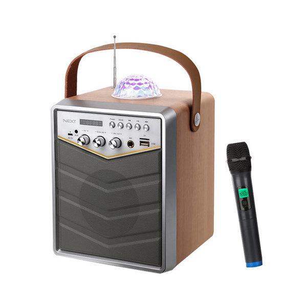 NEXT-BT30AMP 스피커 노래방 블루투스 미러볼 노래방