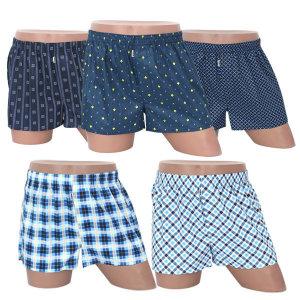 국내산 5매 랜덤 트렁크 사각 팬티 남자 남성 속옷