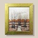 금전운 돈나무 그림액자 유화그림 풍수그림(금색)12호