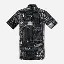 남성 후라이스 프린팅 H넥 셔츠 AIRMTS10/BLACK.L