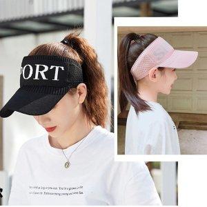 여성 썬캡 운동 야구 골프 자외선차단 모자 키즈 아동
