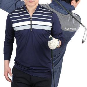 잔피엘 남성 프리미엄 골프웨어 카라 긴팔티셔츠