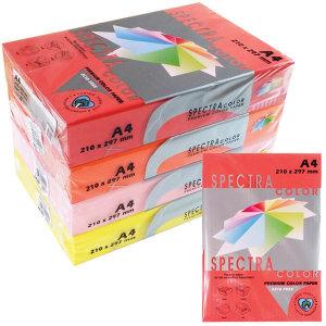 스펙트라 칼라 A4 복사용지 도화지 양면색종이 색상지