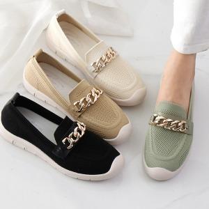 발편한 니트 단화 여성 로퍼 슬립온 여름 운동화 신발