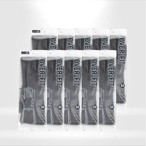 명진 오버핏 고무장갑 (중) x 10켤레 그레이 주방장갑